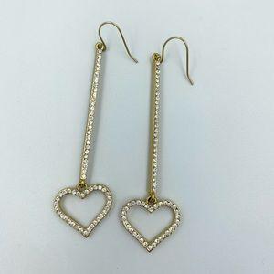 Bebe Heart Drop Earrings
